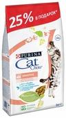 Корм для кошек CAT CHOW при чувствительном пищеварении, для здоровья кожи и шерсти, с лососем