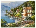 "Белоснежка Картина по номерам ""Вилла на берегу озера"" 40х50 см (361-CG)"