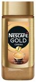 Кофе растворимый Nescafe Gold Crema с пенкой, стеклянная банка