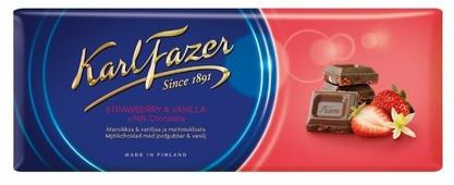 Шоколад Fazer молочный с клубникой и ванилью