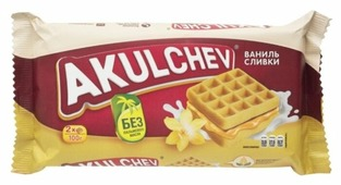 Акульчев Вафли венские Akulchev Ваниль-сливки 100 г