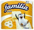 Туалетная бумага Familia Plus Ромашка двухслойная