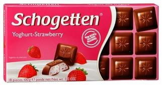 Шоколад Schogetten Yogurt-Strawberry молочный с клубнично-йогуртовой начинкой