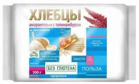 Хлебцы амарантовые Di & Di с топинамбуром и чесноком (пакет) 100 г