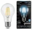 Лампа светодиодная gauss 102802210, E27, A60, 10Вт