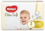 Huggies подгузники Elite Soft 3 (5-9 кг) 40 шт.