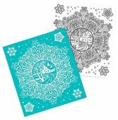 Наклейка интерьерная Феникс Present Зимнее кружево 15.5 x 17.5 см
