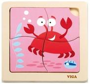 Рамка-вкладыш Viga Краб (50146), 4 дет.