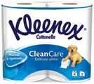 Туалетная бумага Kleenex Clean care Delicate white двухслойная