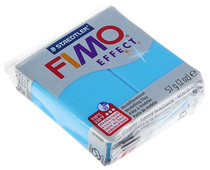Полимерная глина FIMO Effect запекаемая полупрозрачный синий (8020-374), 57 г
