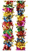 Мишура Феникс Present новогодняя цветная с желтыми звездами 200 х 8 см