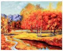 """Рыжий кот Картина по номерам """"Осенняя роща"""" 40х50 см (B794)"""