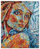 """Мосфа Картина по номерам """"Витражный портрет"""" 40х50 см (7С-0292)"""
