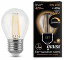 Лампа светодиодная gauss 105802105-D, E27, G45, 5Вт