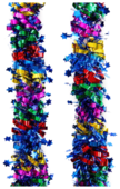 Мишура Феникс Present новогодняя цветная с синими звездами 200 х 8 см