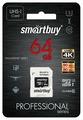 Карта памяти SmartBuy Professional microSDXC Class 10 UHS-I U3 + SD adapter