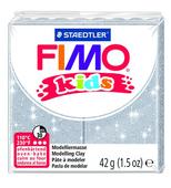 Полимерная глина FIMO kids 42 г блестящий серебряный (8030-812)