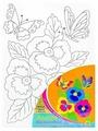 "Рыжий кот Картина по контурам ""Цветы и бабочки"" 18x24 см (Х-0312)"