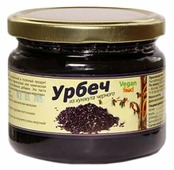 Vegan food Урбеч из кунжута черного