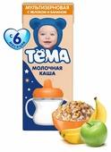 Каша Тёма молочная мультизерновая с яблоком и бананом (с 6 месяцев) 206 г