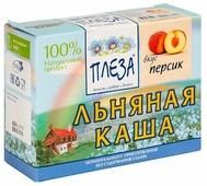 ПЛЕЗА Каша льняная вкус Персик (коробка), 200 г