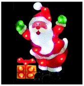 Панно Sh Lights Санта-Клаус с подарком, 53.4 x 35.5 см, PKQE07SW22/1
