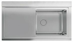 Врезная кухонная мойка smeg LRX901S 89.7х51см нержавеющая сталь