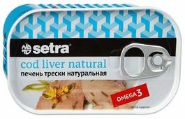 Setra Печень трески натуральная, 120 г