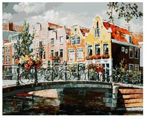 "Белоснежка Картина по номерам ""Амстердам.Мост через канал"" 40х50 см (119-AB)"