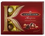 """Набор конфет Коркунов """"Ассорти"""" темный и молочный шоколад 110 г"""