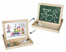 Доска для рисования детская Десятое королевство двухсторонняя магнитно-маркерная с поддоном (02080)