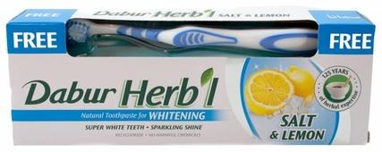 Зубная паста + щетка Dabur Herb'l Соль и лимон