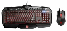 Клавиатура и мышь Tt eSPORTS by Thermaltake CHALLENGER Prime RGB Combo Black USB