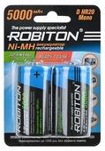 Аккумулятор Ni-Mh 5000 мА·ч ROBITON D HR20 Mono 5000