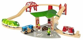 """Brio Стартовый набор """"Железная дорога с автовокзалом и мостами"""", 33627"""