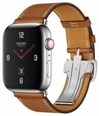Часы Apple Watch Hermès Series 4 GPS + Cellular 44mm Stainless Steel Case with Leather Single Tour Deployment Buckle