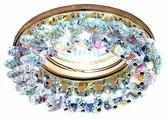 Встраиваемый светильник Ambrella light K206 MULTI/G, золото/мульти