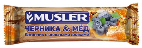 Злаковый батончик Musler Черника и мед, 30 г