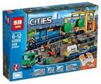Электромеханический конструктор Lepin (King, Queen) Cities 02008 Грузовой моторизированный поезд