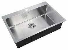 Врезная кухонная мойка ZorG INOX R 7551 75х51см нержавеющая сталь