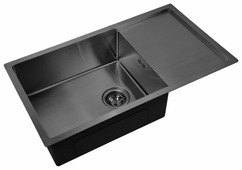 Врезная кухонная мойка ZorG PVD 7844 GRAFIT 78х44см нержавеющая сталь
