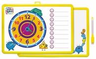 Доска для рисования детская Kribly Boo с часами и маркером