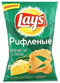 Lay's Чипсы Lay s картофельные Нежный сыр с луком рифленые