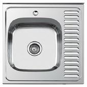 Накладная кухонная мойка Ledeme L66060-6L 60х60см нержавеющая сталь
