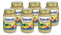 Пюре Bebivita картофель с овощами и индейкой (с 9 месяцев) 190 г, 6 шт