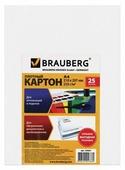 Белый картон мелованный BRAUBERG, A4, 25 л.