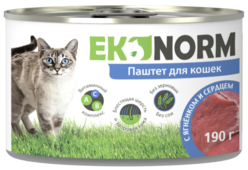Корм для кошек Ekonorm Паштет с ягнёнком и сердцем