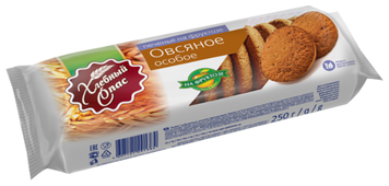 Печенье Хлебный Спас овсяное Особое на фруктозе, 250 г