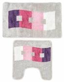 Комплект ковриков Milardo 480PA58M13, 50х80 см, 50х50 см