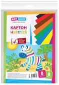 Цветной картон немелованный, в пакете с европодвесом ArtSpace, A4, 8 л., 8 цв.
